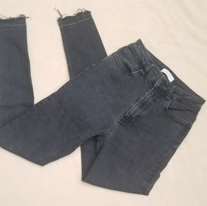 Zara Woman High Rize Skinny Gray Jeans s 4